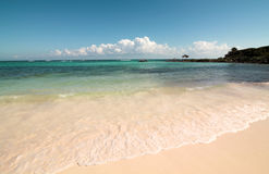Красивый карибский пляж в Майя Ривьеры Стоковое Фото