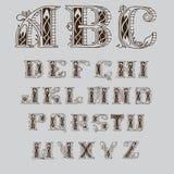 Красивый кельтский шрифт с картинами Стоковая Фотография RF