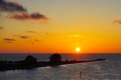 Красивый комплект солнца стоковое фото