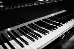 Красивый конец-вверх ключей рояля Стоковые Фото