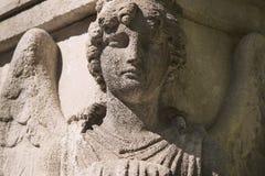 Красивый конец вверх по af скульптура камня ангела стороны с помадкой Стоковые Фотографии RF