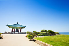 Красивый корейский колокол приятельства на солнечном дне Стоковое фото RF