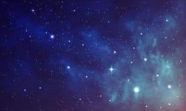 Красивый космос с межзвёздным облаком, реалистический вектор - EPS 10 Стоковые Изображения