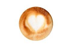 Красивый кофе с сердцем без изолированной чашки, Стоковые Изображения RF