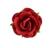 Красивый красный бумажный цветок изолированный на белой предпосылке Стоковые Изображения RF