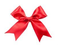 Красивый красный смычок изолированный на белой предпосылке Стоковая Фотография RF