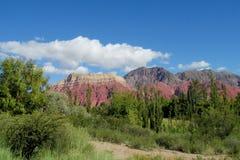 Красивый красный утес горы в Южной Америке Стоковое Фото