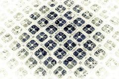 Красивый крупный план текстурирует абстрактные плитки и серебряные и белые предпосылку и картину стены стекла цвета стоковые изображения