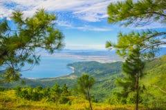 Красивый ландшафт Вьетнам пропуска дороги Стоковые Изображения