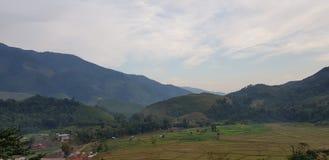 Красивый ландшафт в северном Таиланде стоковая фотография rf