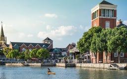 Красивый ландшафт городка Темза в Шанхае стоковая фотография