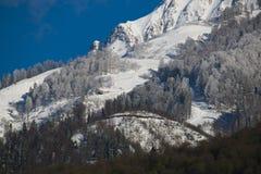 Красивый ландшафт горы в Кавказе Стоковая Фотография RF