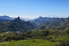 Красивый ландшафт горы Gran Canaria Канарские островы, Испания Стоковые Изображения RF