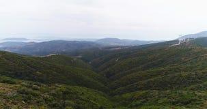 Красивый ландшафт гор лета около Temple of Artemis 4k, slowmotion видеоматериал