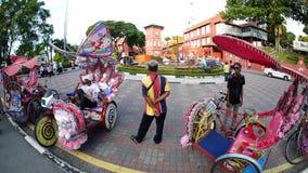 Красивый ландшафт & здание вдоль улиц Малайзии стоковое изображение
