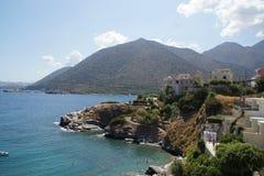 Красивый ландшафт Крита, моря и горы Интересы природы Стоковое фото RF