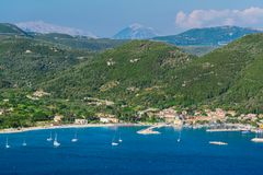 Красивый ландшафт летом в Греции стоковые фотографии rf