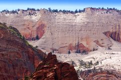 Красивый ландшафт национального парка Сиона, Юты, США Стоковые Фотографии RF