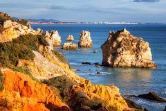 Красивый ландшафт океана, побережье Атлантического океана, порта стоковые изображения