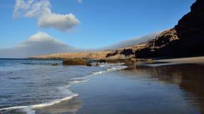 Красивый ландшафт пляжа, Канарские острова Стоковое Изображение RF