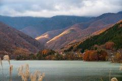 Красивый ландшафт резервуара запруды Hirose стоковая фотография rf