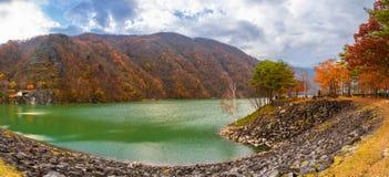 Красивый ландшафт резервуара запруды Hirose стоковое изображение