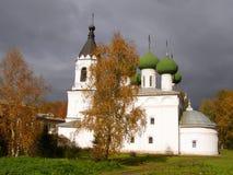 Красивый ландшафт с Spaso-Prilutsky Monaste стоковое изображение
