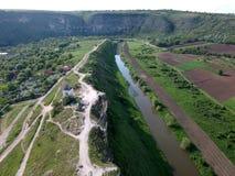 Красивый ландшафт увиденный от высоты трутней стоковые фотографии rf