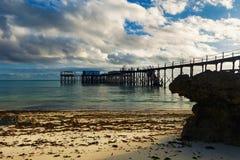 Красивый ландшафт утра на побережье Индийского океана стоковая фотография rf