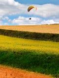Красивый ландшафт холма травы, сезон осени стоковое фото rf