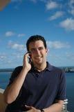 красивый латинский телефон человека Стоковые Изображения