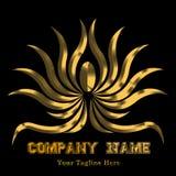 Красивый логотип с золотом Abstrak цветка Стоковая Фотография