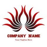 Красивый логотип с цветком Abstrak Стоковое фото RF