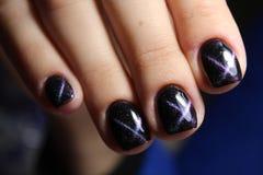 Красивый маникюр искусства ногтя Стоковые Фотографии RF