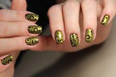 Красивый маникюр искусства ногтя Стоковое фото RF