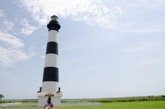 Красивый маяк на наружных банках Северной Каролине стоковая фотография
