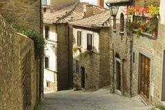 Красивый маленький город в Тоскане, Италии Стоковые Фотографии RF