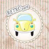 Красивый маленький желтый ретро автомобиль Стоковые Изображения RF