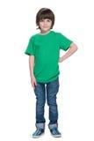 Красивый мальчик на белой предпосылке Стоковое фото RF
