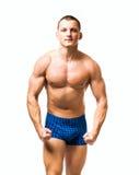 Красивый молодой мышечный человек стоковое фото rf
