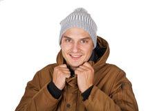 Красивый молодой человек на изолированный стоковое изображение