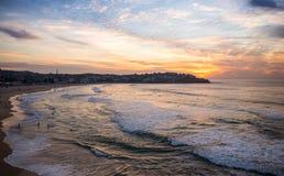 Красивый момент на пляже Сиднее Австралии Bondi Стоковые Изображения RF
