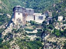 Красивый монастырь на горе Стоковая Фотография