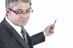 Показывать бизнесмена Стоковая Фотография RF
