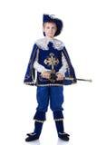 Красивый молодой мушкетёр, изолированный на белизне Стоковые Фотографии RF