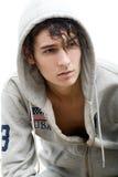 Красивый молодой человек в клобуке Стоковая Фотография RF