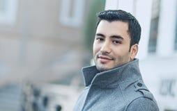 Красивый мужской носить над пальто Стоковое Изображение