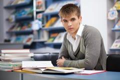 Красивый мыжской студент в архиве Стоковые Фотографии RF