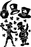 Красивый набор для украшения дня Patricks Святого иллюстрация штока