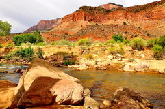 Красивый национальный парк Сиона Стоковое Фото